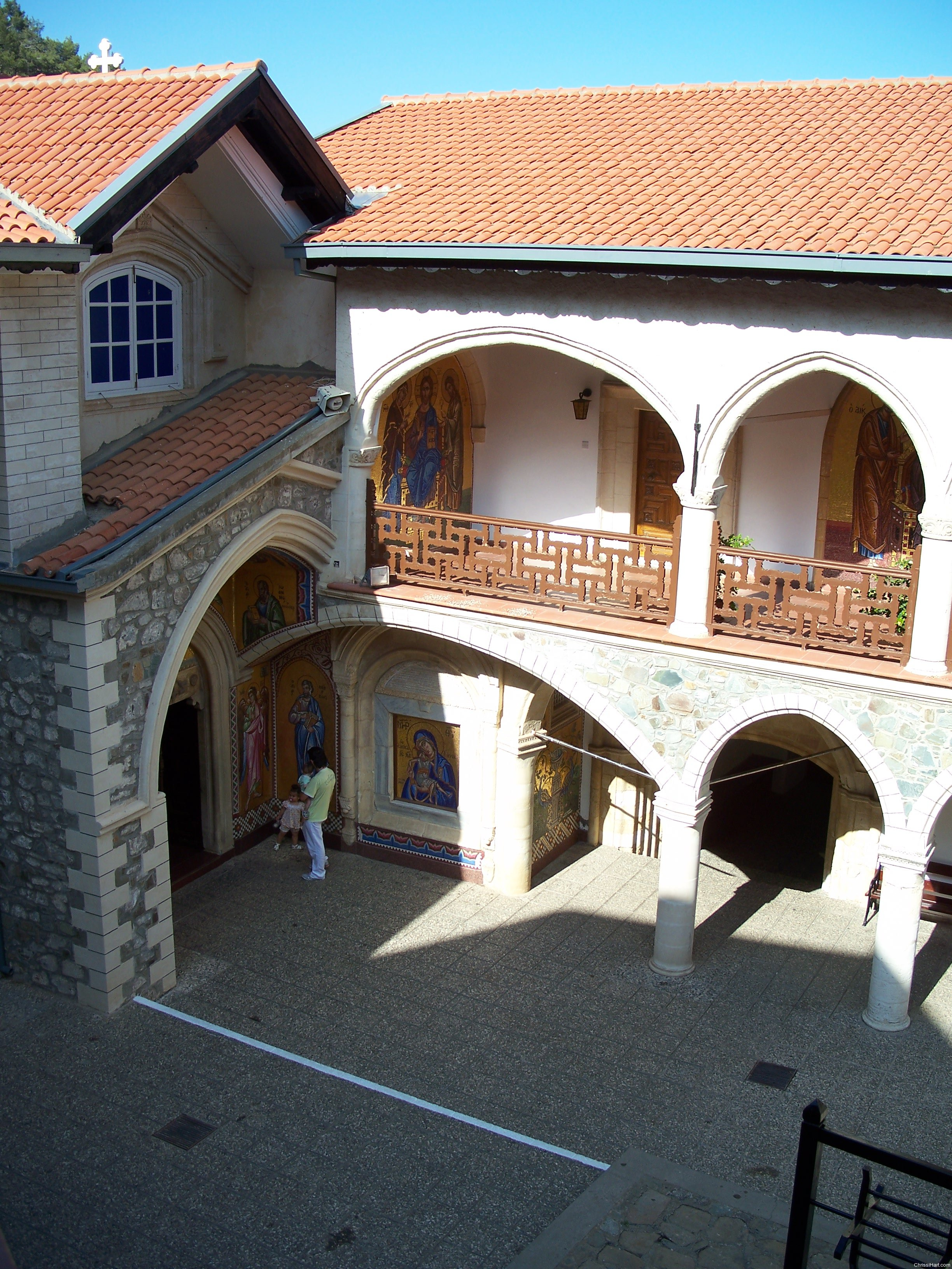 Church entrance from above
