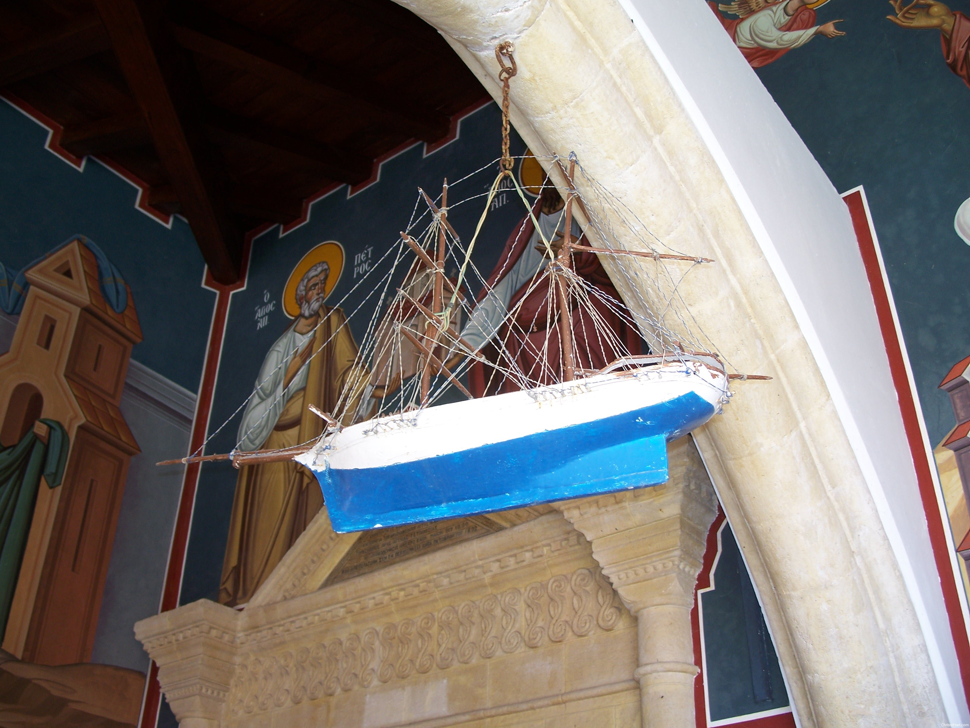 ship offering to the Holy Virgin