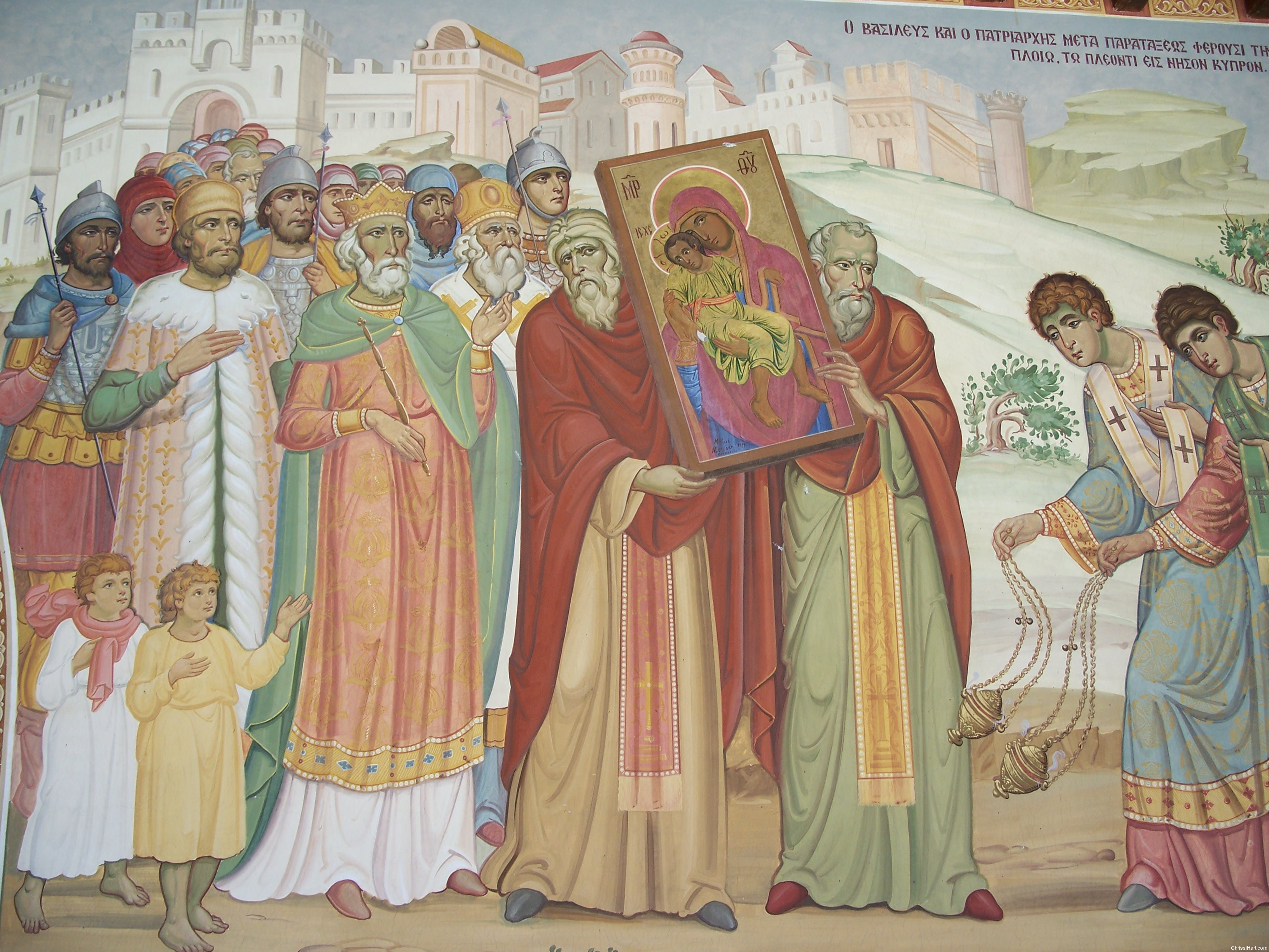 procession of icon from Constantinople