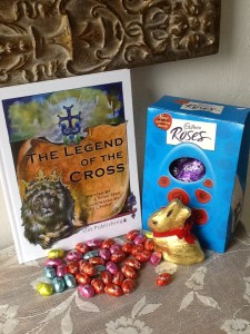 The Legend of the Cross book with chocolates